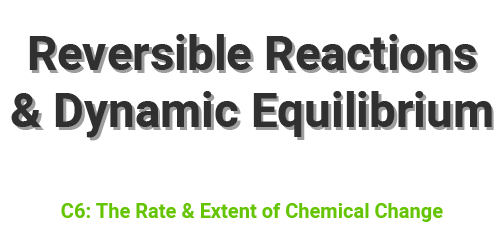 Reversible Reactions and Dynamc Equilibrium