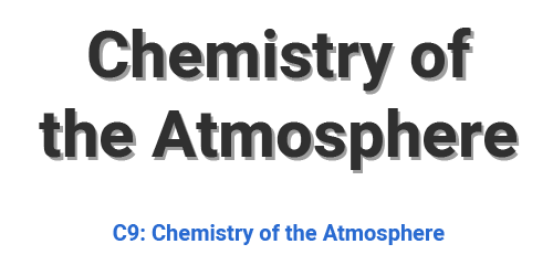 Chemistry of the Atmosphere