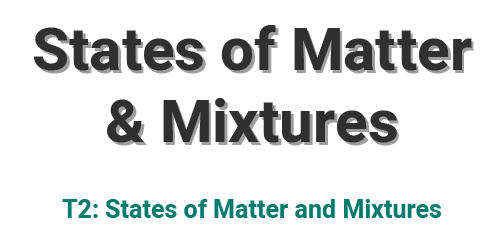 States of Matter and Mixtures