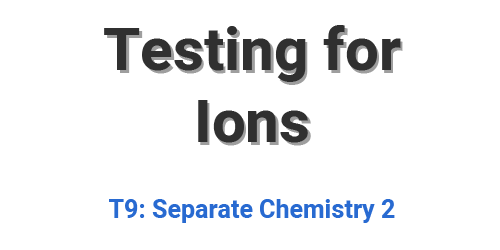 Testing for Ions